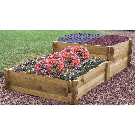 Jardin et Saisons Carré potager en escalier en bois non traité