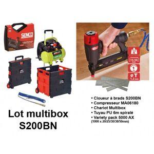 Senco Lot Compresseur MA06180 et cloueur S200BN et accessoires Aerfast - Publicité