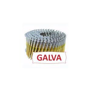 Kicloutou Pointes 16° 2.5x70 mm crantées GALVA - rouleau de 300 clous - Publicité