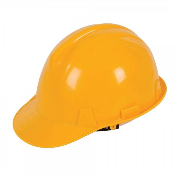 Silverline Casque de chantier Jaune