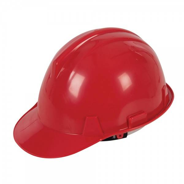 Silverline Casque de chantier Rouge