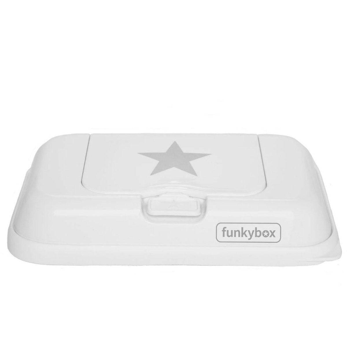 Funkybox Boîte Lingettes Nomade Blanc Etoile Argent