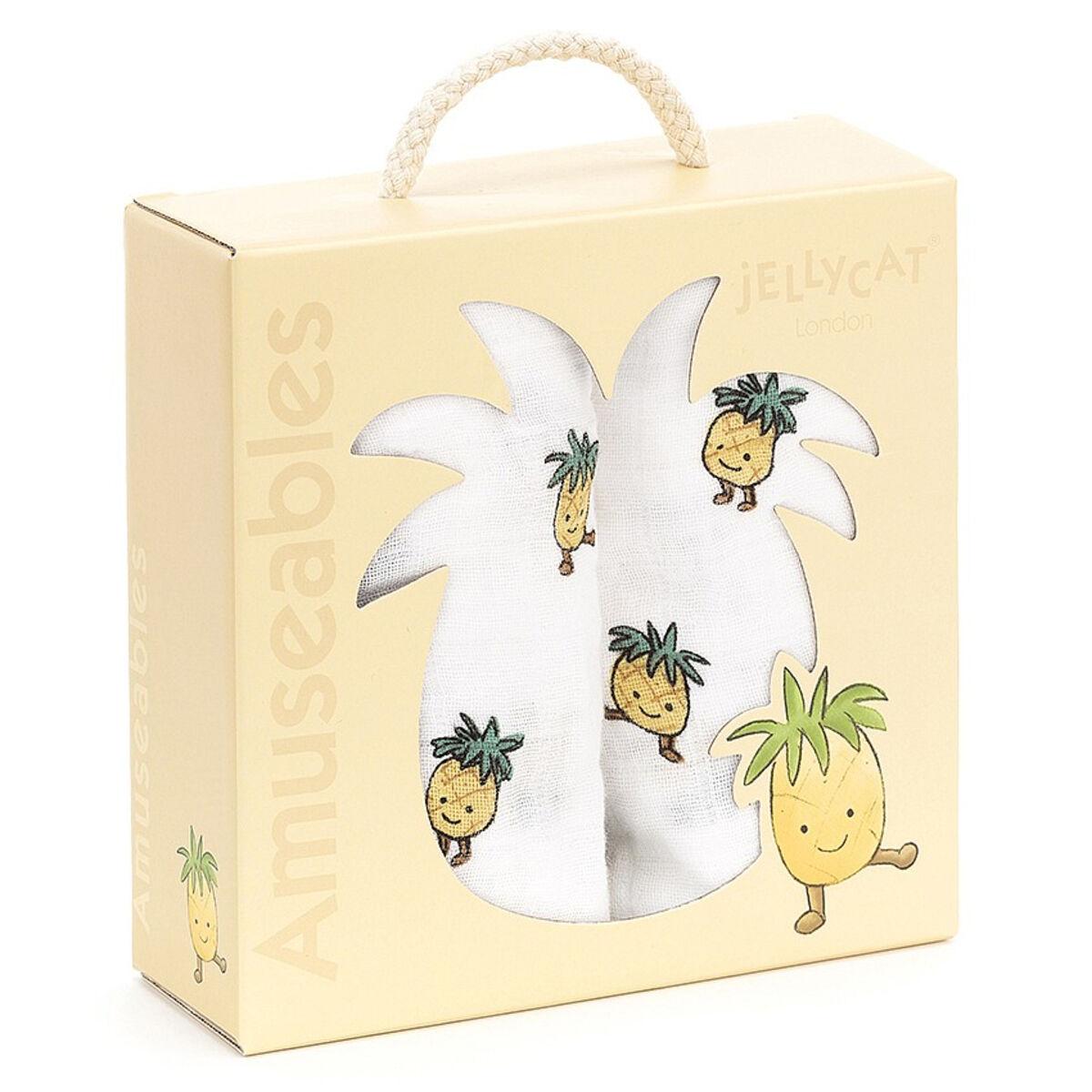 Little Jellycat Coffret de 2 Langes - Amuseable Pineapple