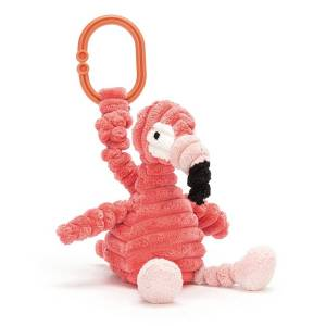 Little Jellycat Jouet de Poussette Cordy Roy Baby Flamingo Jitter - Publicité