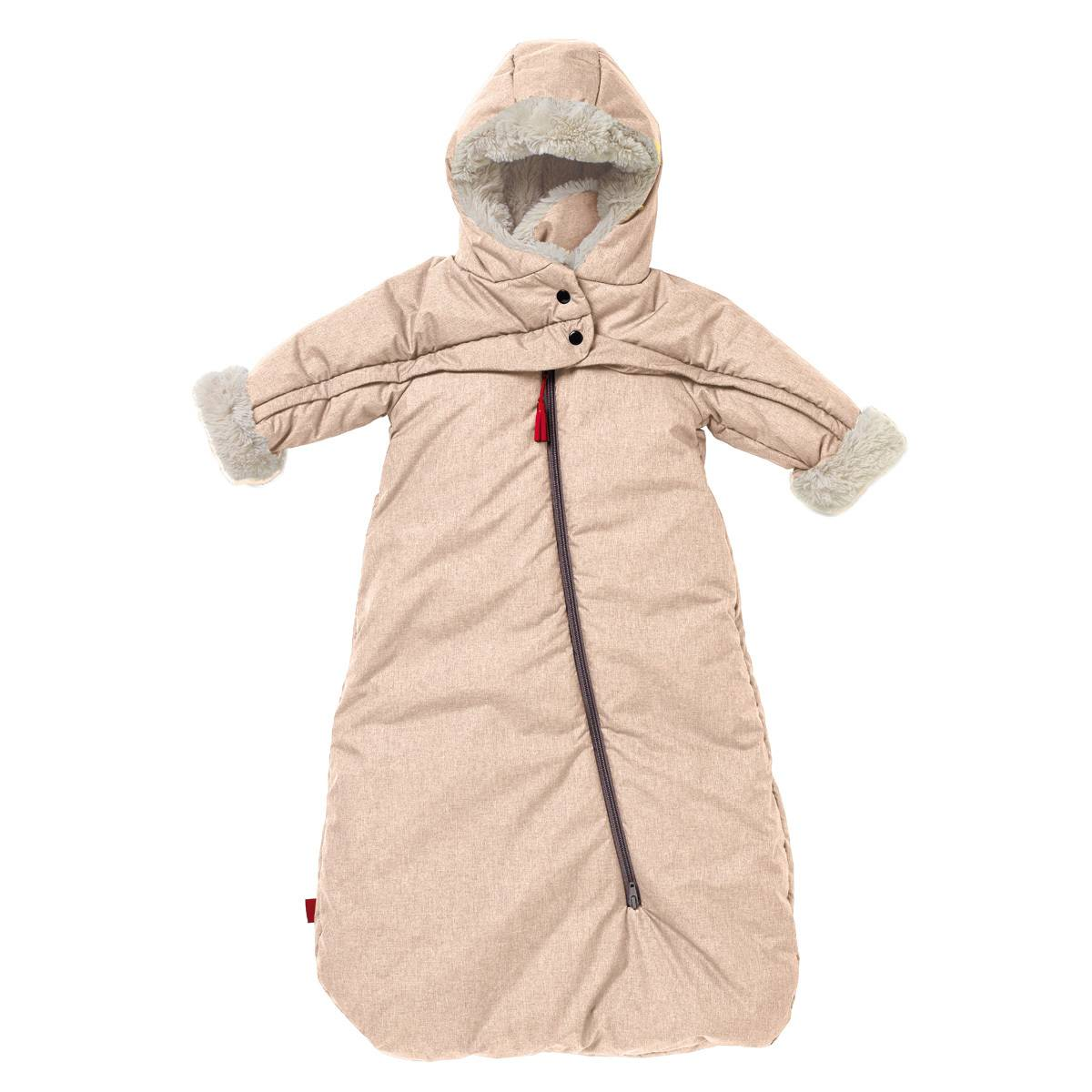 Red Castle Combinaison Troïka T-Zip Tendresse Beige Chiné - 0/6 Mois