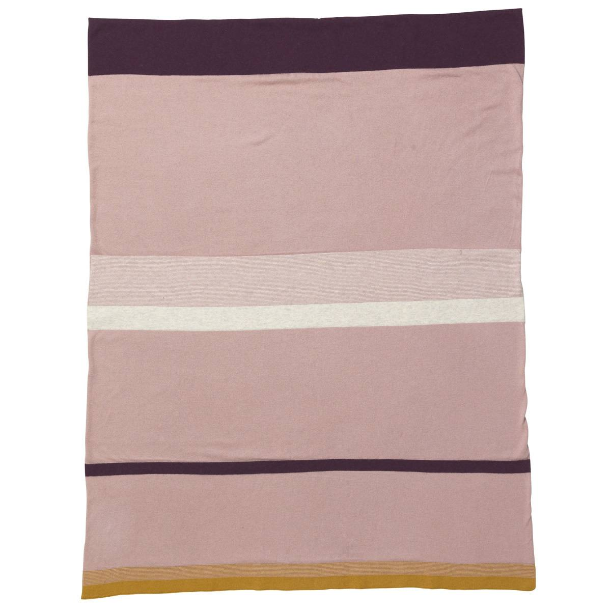 Ferm Living Couverture Little Strity - Rose