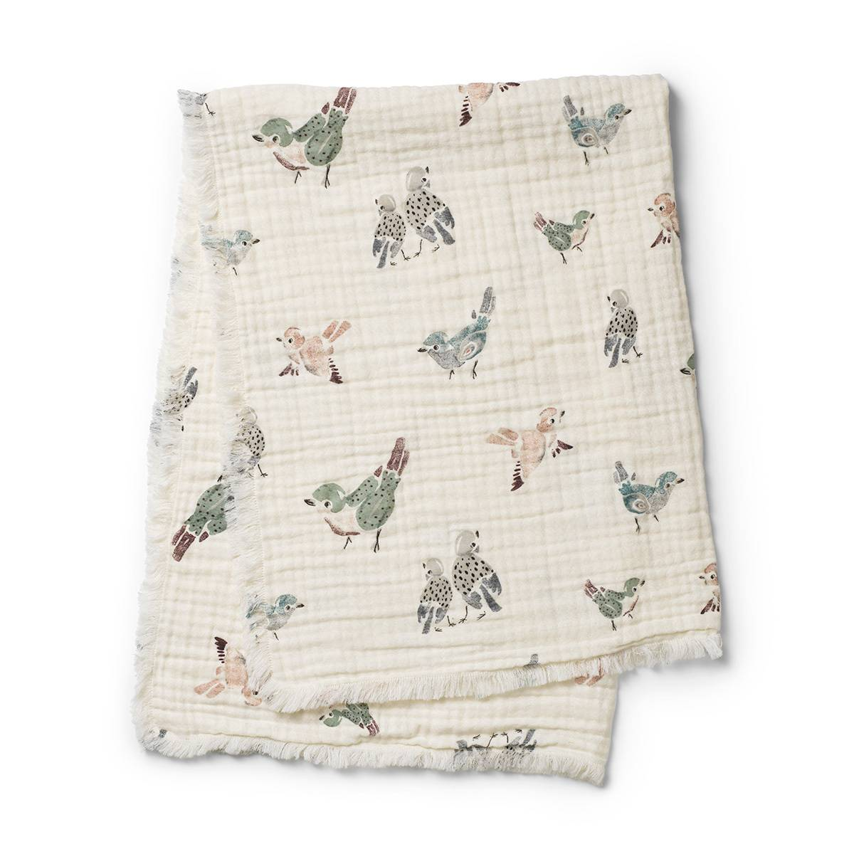 Elodie Details Couverture en Coton Froissé - Feathered Friends