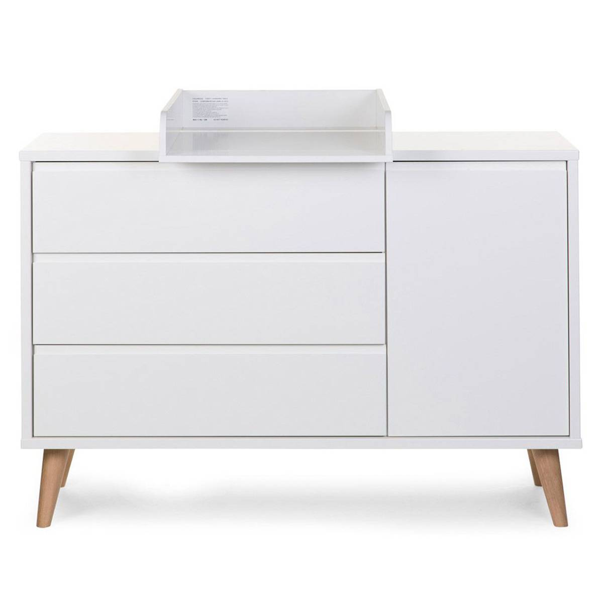Childhome Commode à Langer Extra Large Retro Rio - Blanc