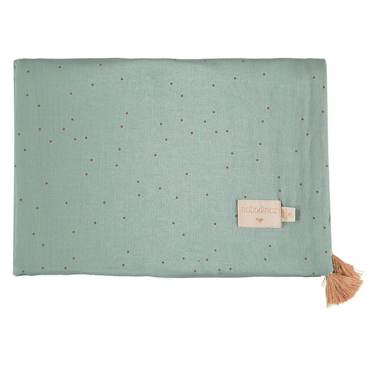 Nobodinoz Couverture d'Eté Treasure - Toffee Sweet Dots & Eden Green