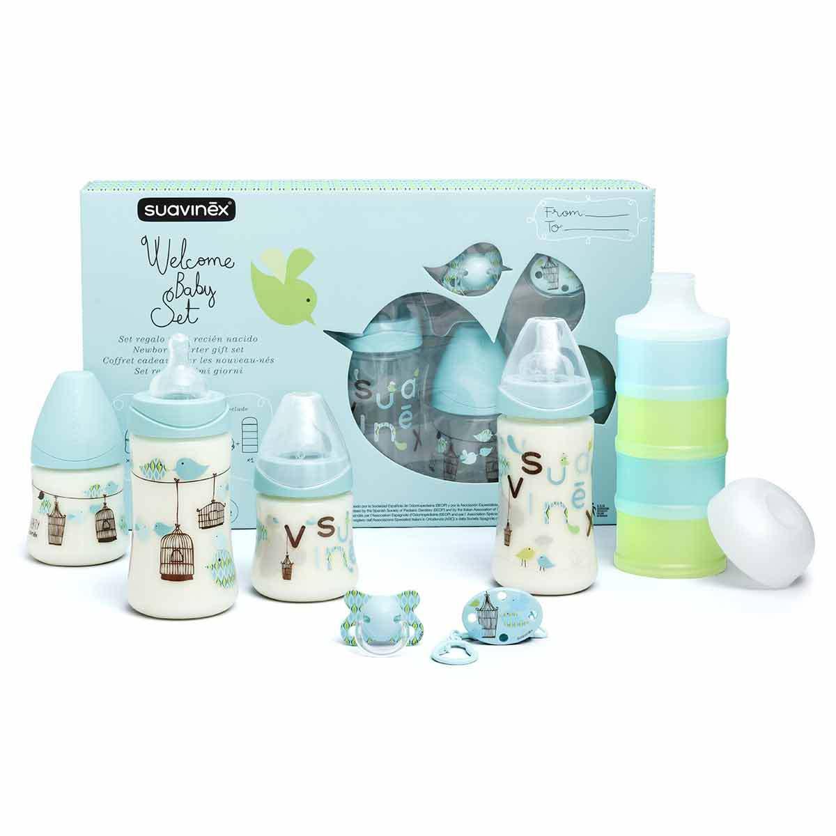 Suavinex Pack Welcome Baby Boy Turquoise - 150 ml et 270 ml