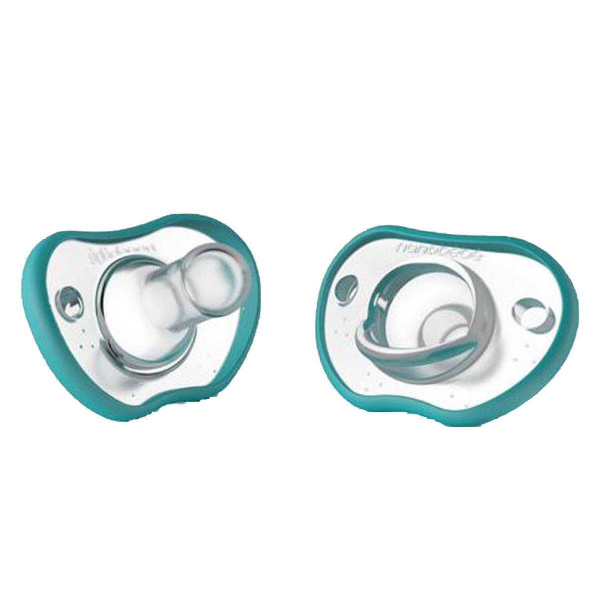 nanobébé Lot de 2 Sucettes Flexy Turquoise - 0/3 Mois