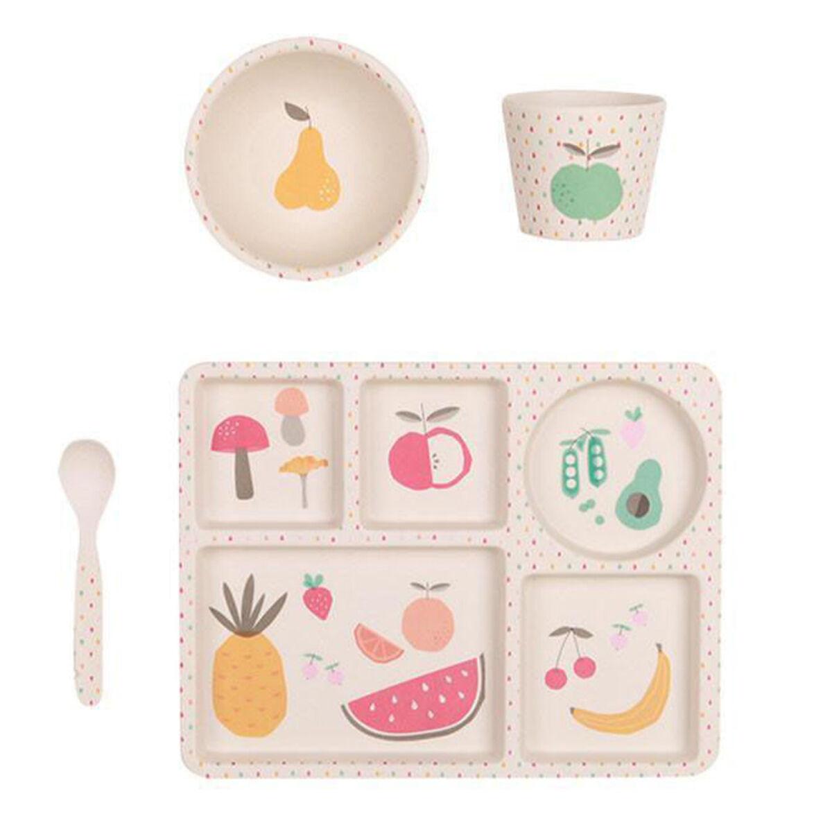 Love Mae Coffret de Vaisselle - Fruits & Légumes