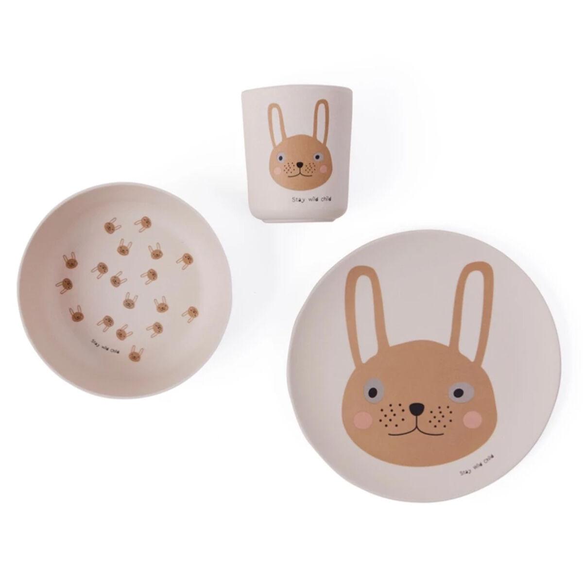 oyoy coffret repas 3 pièces - rabbit