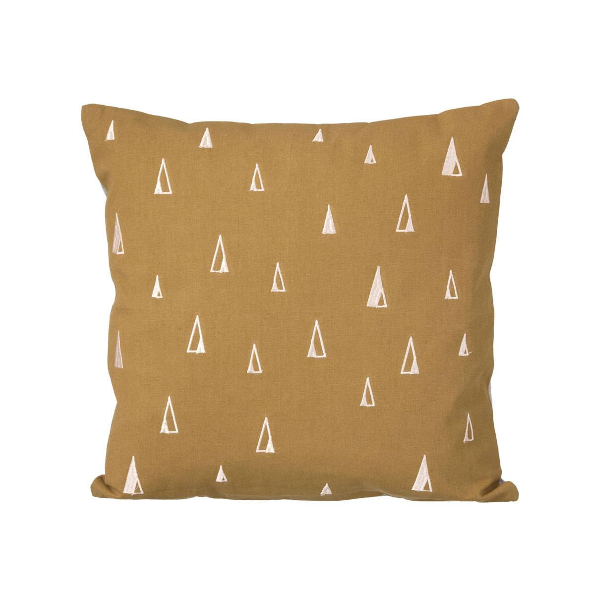 Ferm Living Coussin Cônes - Curry