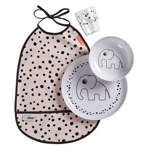 Done by Deer Coffret Repas 4 Pièces Happy Dots - Rose Poudré - Publicité