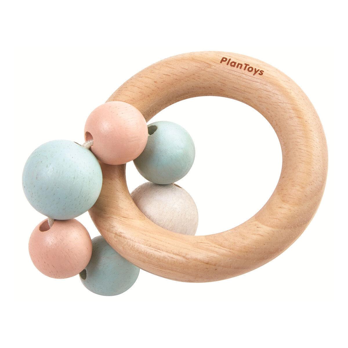 Plan Toys Hochet Perles - Pastel