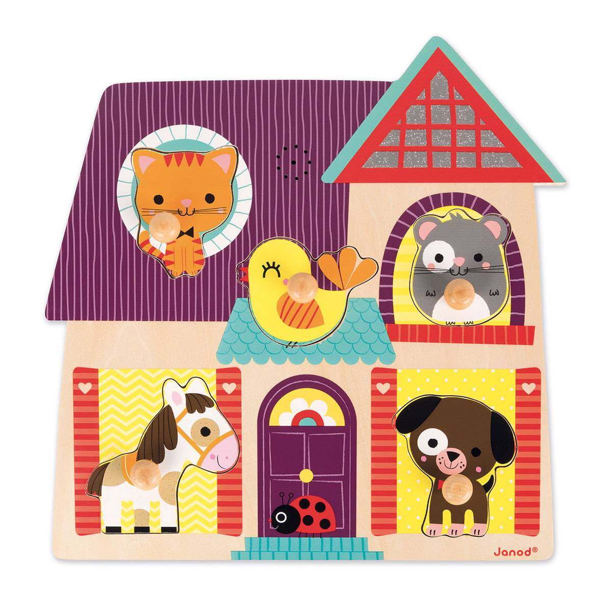 Janod Puzzle Musical Mes Petits Compagnons
