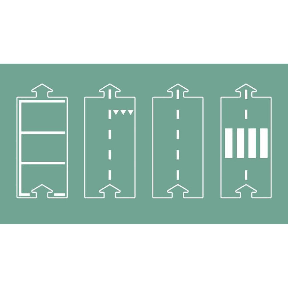 Waytoplay Set d'Extension Lignes Droites pour Circuit Flexible