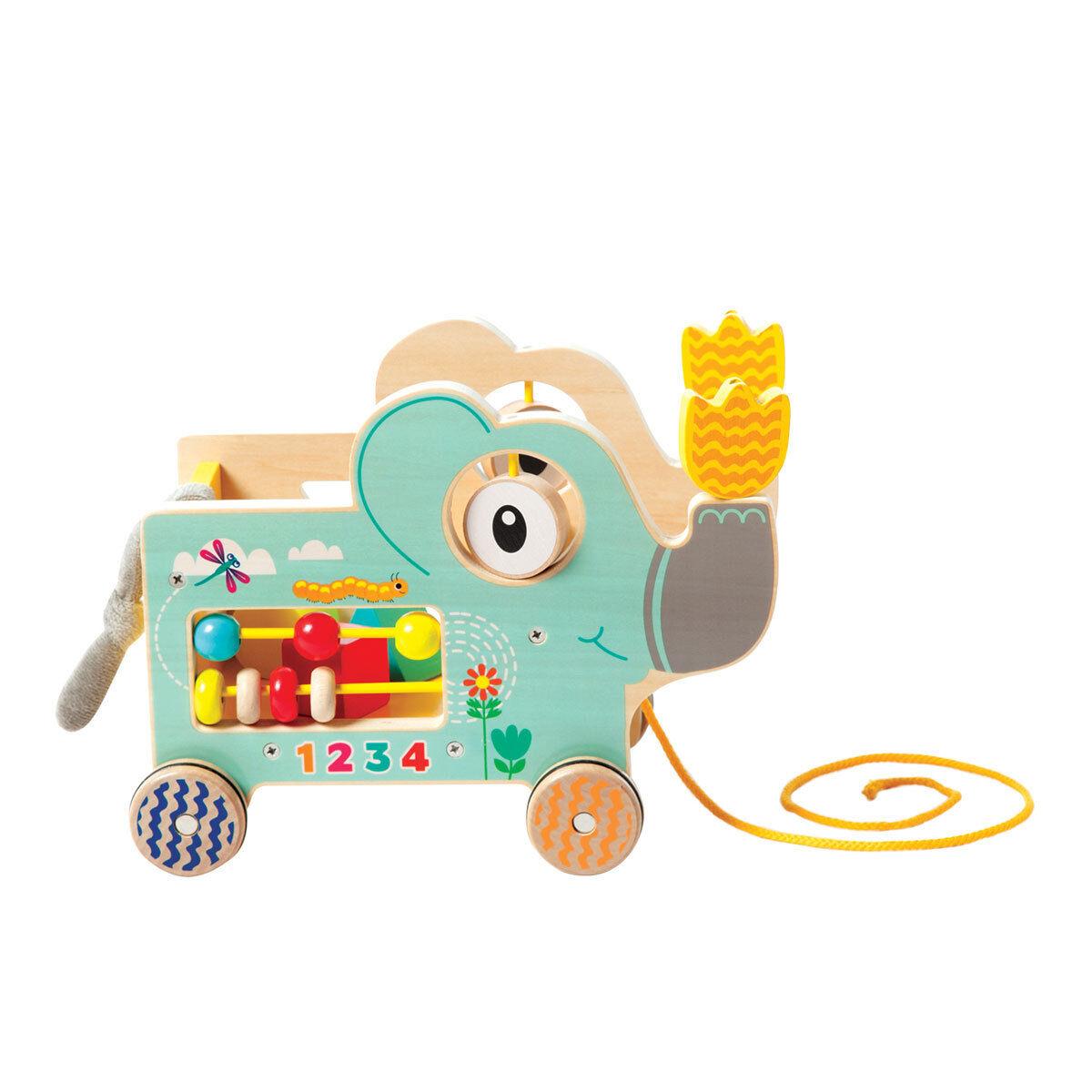 Manhattan Toy Eléphant à Tirer & Aire d'Activités - Vert