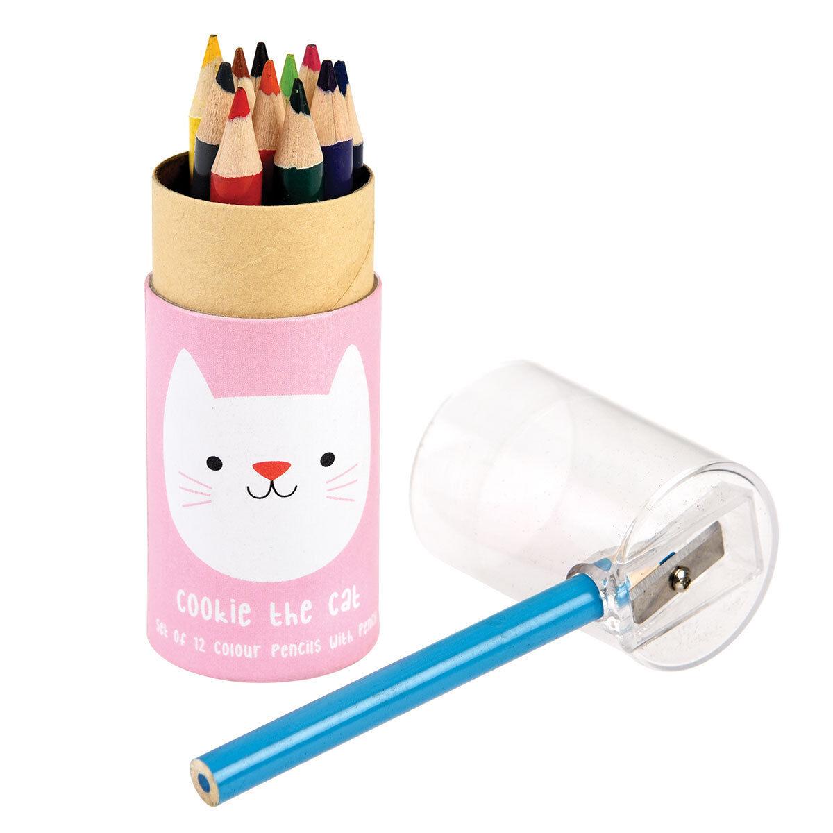 rex crayons de couleurs cookie chat
