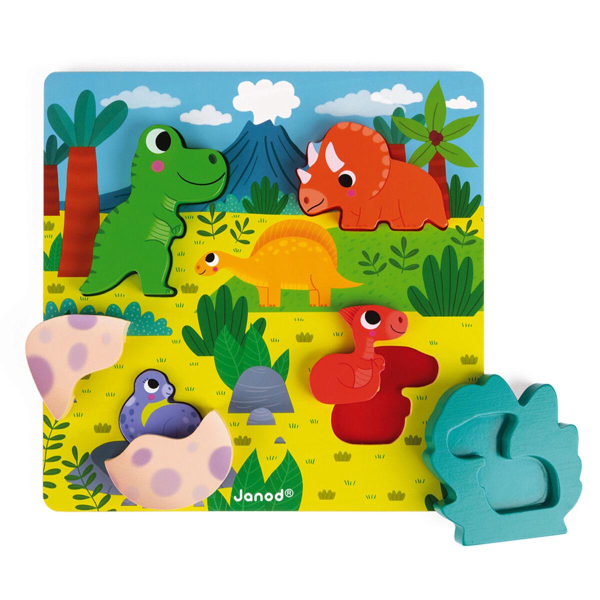 Janod Puzzle Cache-Cache Dino