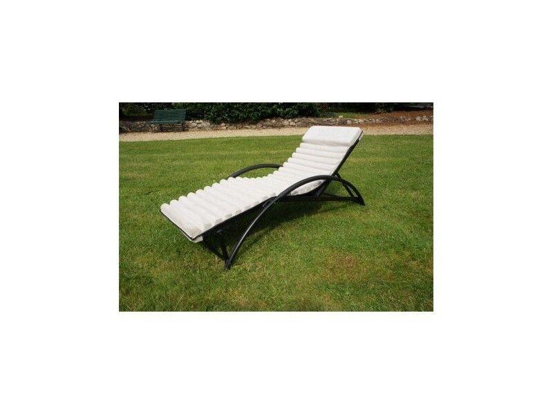 Chalet & Jardin Transat/Bain de soleil/RELAX de jardin en aluminium Beige GYM FUTON