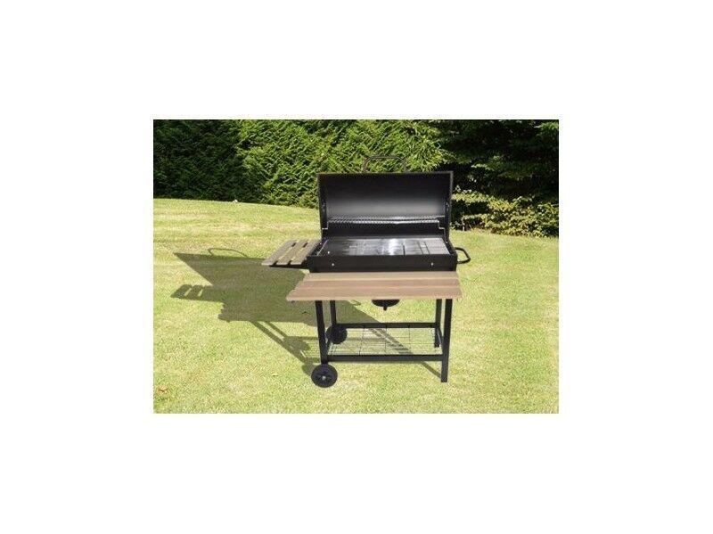 La Maison Du Jardin Barbecue charbon de bois avec couvercle pour extérieur