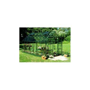 Halls Serre en polycarbonate de jardin MAGNUM - 11.5 m² - Aluminium laqué vert - Avec Base - Publicité