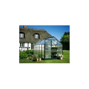 Halls Serre en polycarbonate de jardin POPULAR - 6.2 m² - En aluminium laqué vert - Avec base - Publicité
