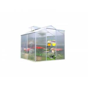 Habrita Serre en polycarbonate alvéolaire de jardin - 2,5 m² - Structure en aluminium - Publicité