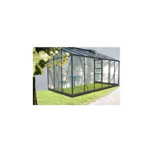 Chalet & Jardin Serre de jardin en verre trempé SOLARIUM + Base - 9,7 m² + kit porte gauche - Publicité