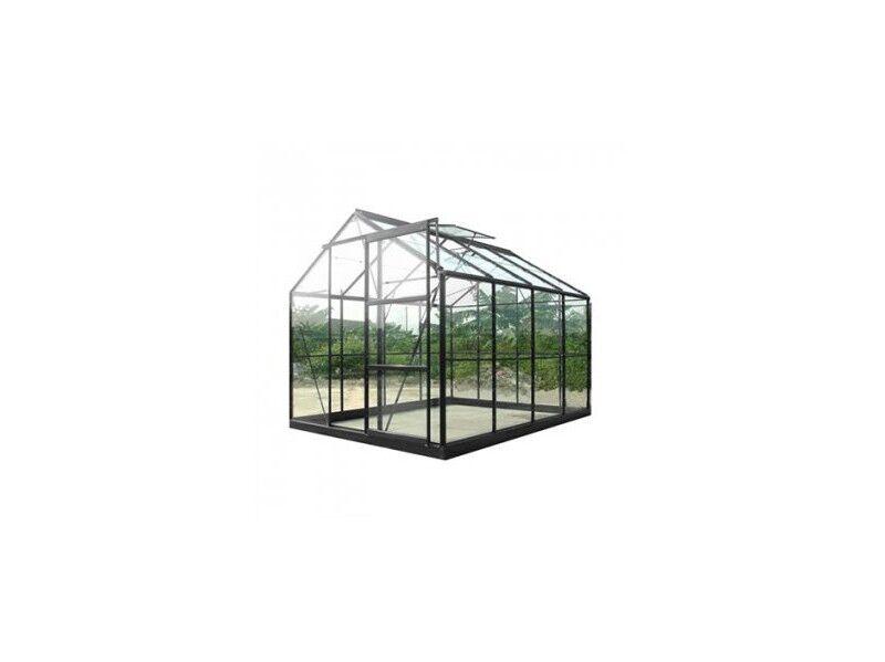 Chalet & Jardin Serre de jardin en verre trempé SEKURIT 4 mm + Base - 7,6 m²