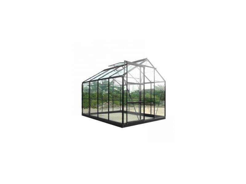 Chalet & Jardin Serre de jardin en verre trempé SEKURIT 4 mm + Base - 8,9 m²
