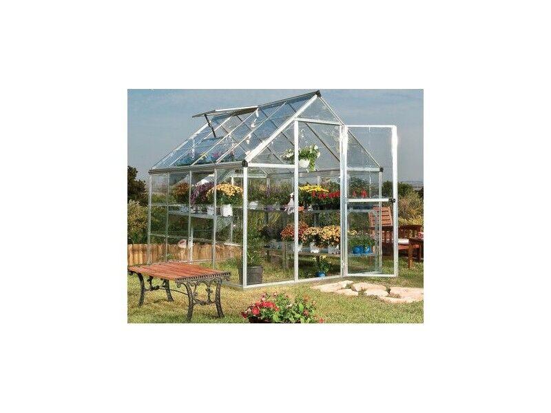 Hartman Serre en polycarbonate transparent de jardin 86 - 4,6 m² - Avec base