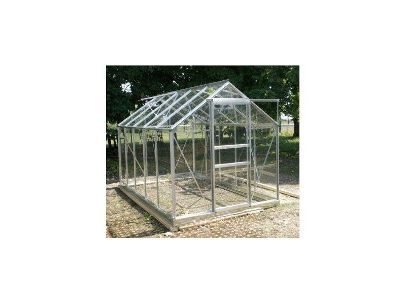 La Maison Du Jardin Serre 106 - 5,8 m² en verre trempé 4 mm - Sans Base - Aluminium naturel