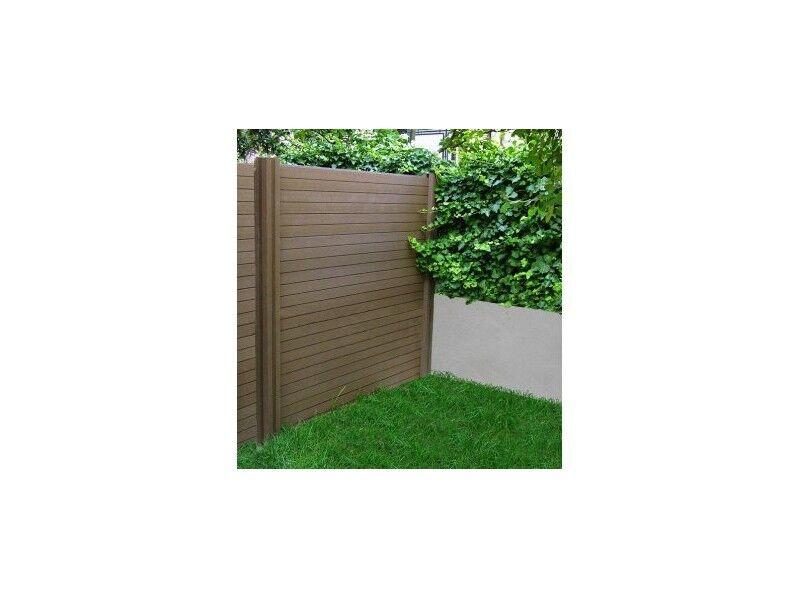 La Maison Du Jardin Lame de clôture en bois composite brun noisette