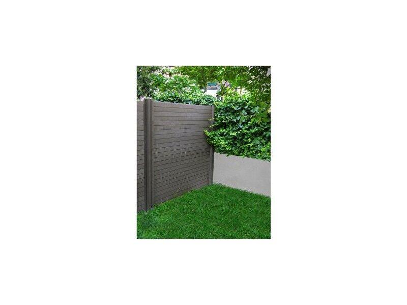 Chalet & Jardin Lame de clôture en bois composite gris anthracite