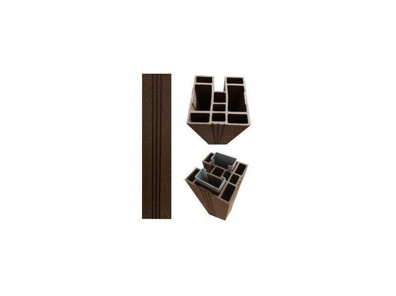 Chalet & Jardin Poteau pour clôture en bois composite brun noisette