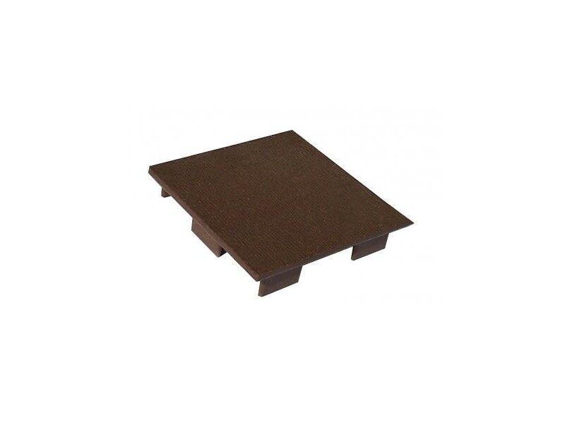 Chalet & Jardin Couvre poteau pour clôture en bois composite brun noisette