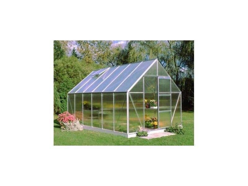 Halls Serre en polycarbonate de jardin UNIVERSAL - 9.9 m² - Sans base