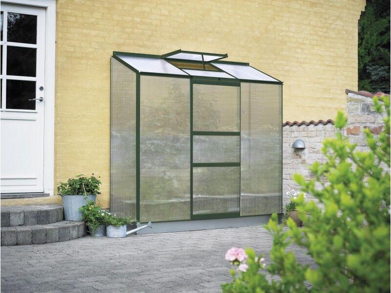 Halls Serre en polycarbonate 4 mm ALTAN 3 - couleur vert - avec base