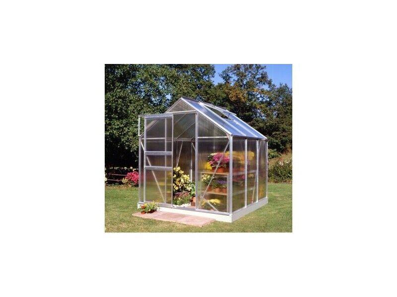 Halls Serre en polycarbonate de jardin POPULAR - 6.2 m² - En aluminium - Sans base
