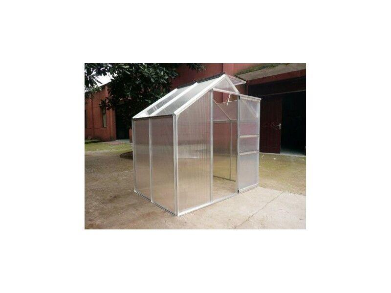 Habrita Serre en polycarbonate - 2.5 m² - Avec Base