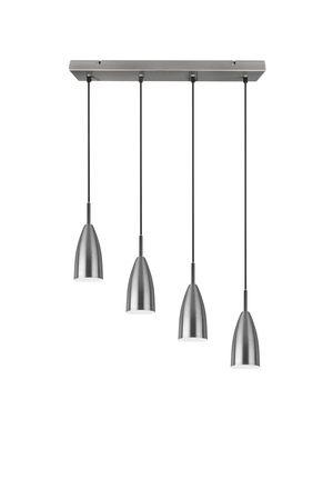TRIO Lighting Lustre 4 abat-jour en métal nickel mate FARIN de Triolighting