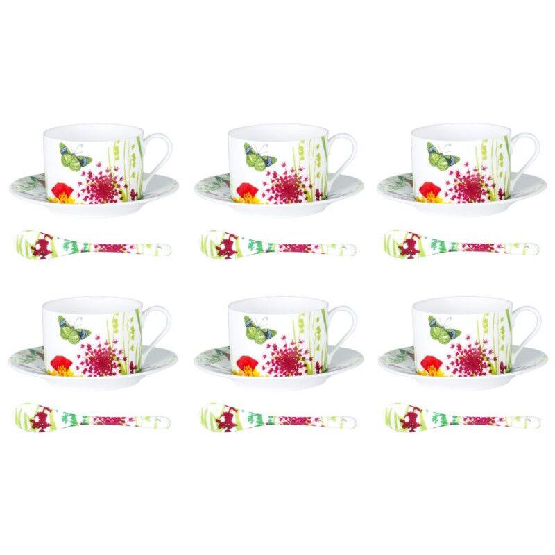 BASTIDE Table et Passion coffret 6 tasses à thé Porcelaine Tutti Fiori