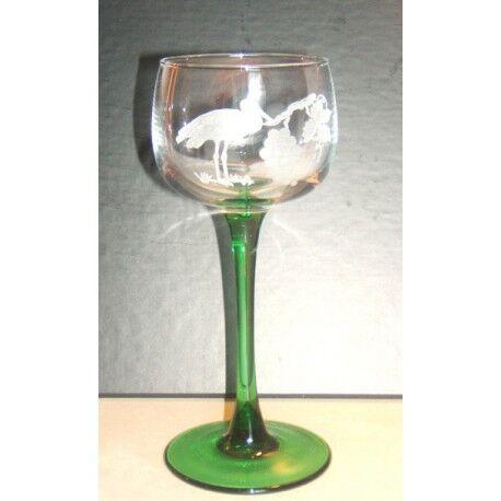 Luminarc 6 verres à vin d'Alsace, vin du Rhin taillés cigogne