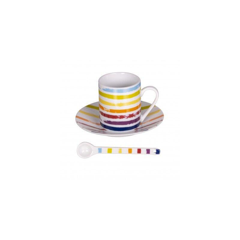 BASTIDE Table et Passion coffret 6 tasses café avec soucoupes et cuillères Little Marcel