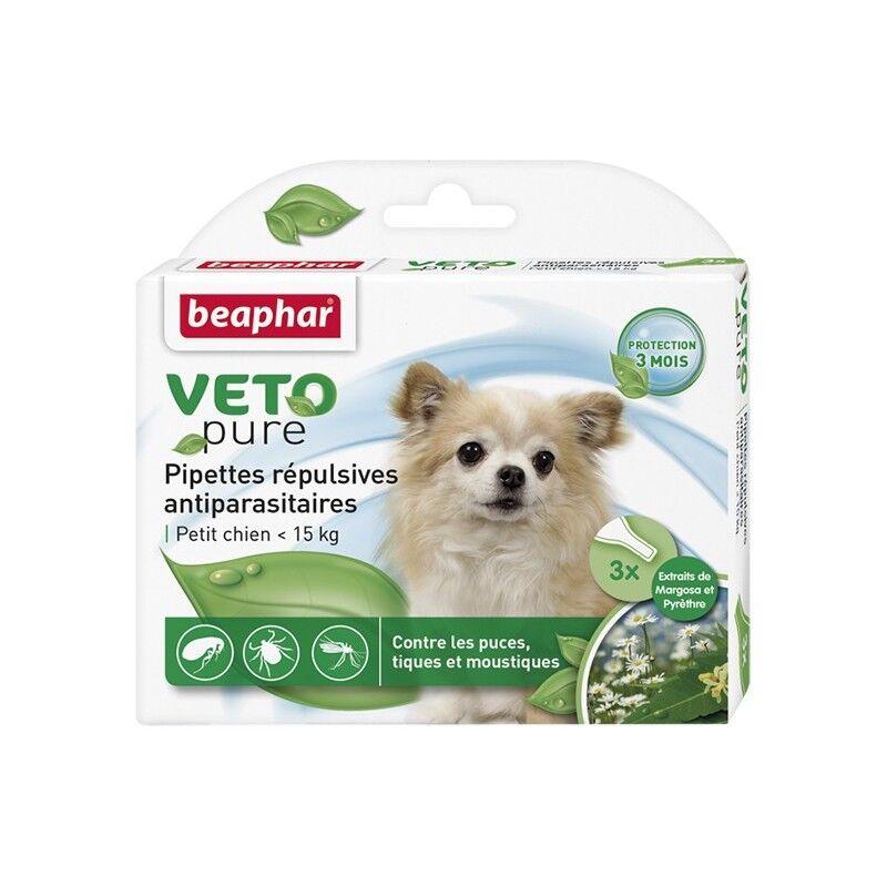 BEAPHAR pipettes répulsives antiparasitaires pour petit chien