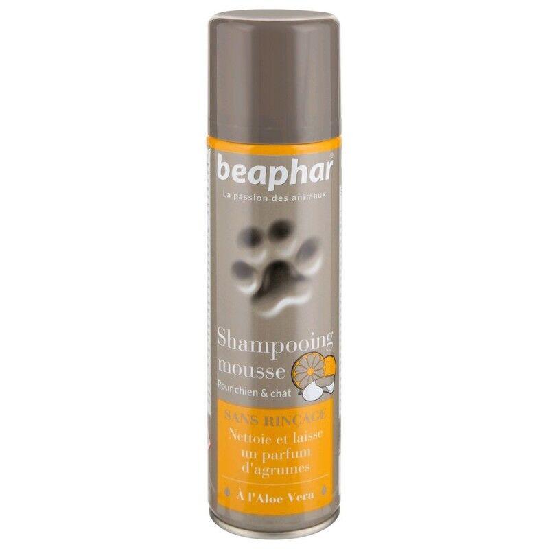 BEAPHAR shampoing mousse sans rinçage, à l'aloe vera