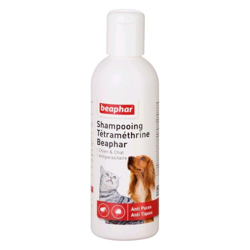 BEAPHAR shampoing anti-puces et anti-tiques à la tétraméthrine